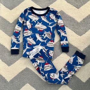 Baby Gap Christmas shark pajamas 3 years